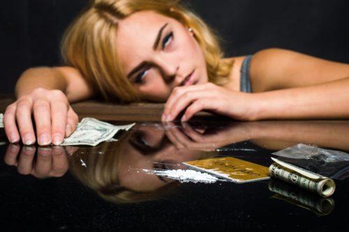наркотическое опьянение у девушки