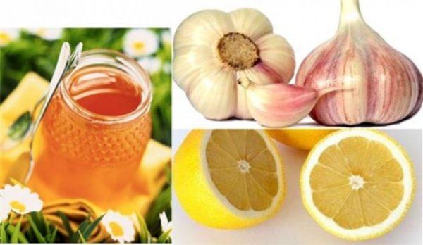 Лимон, чеснок и мед для очищения сосудов